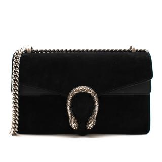 Gucci Black Leather & Suede Dionysus Small Shoulder Bag