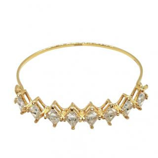 Shourouk Gold Tone Crystal Bangle