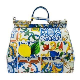 Dolce & Gabbana Majolica Print Medium Sicily Bag