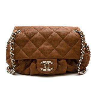 Chanel Tan Aged Calfskin Chain-Around Cross-Body Bag
