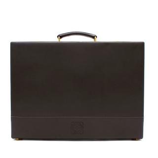 Loewe Grey Leather Vintage Briefcase