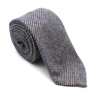Hardy Amies Grey Wool Check Tie