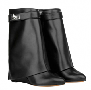Givenchy black leather shark boots