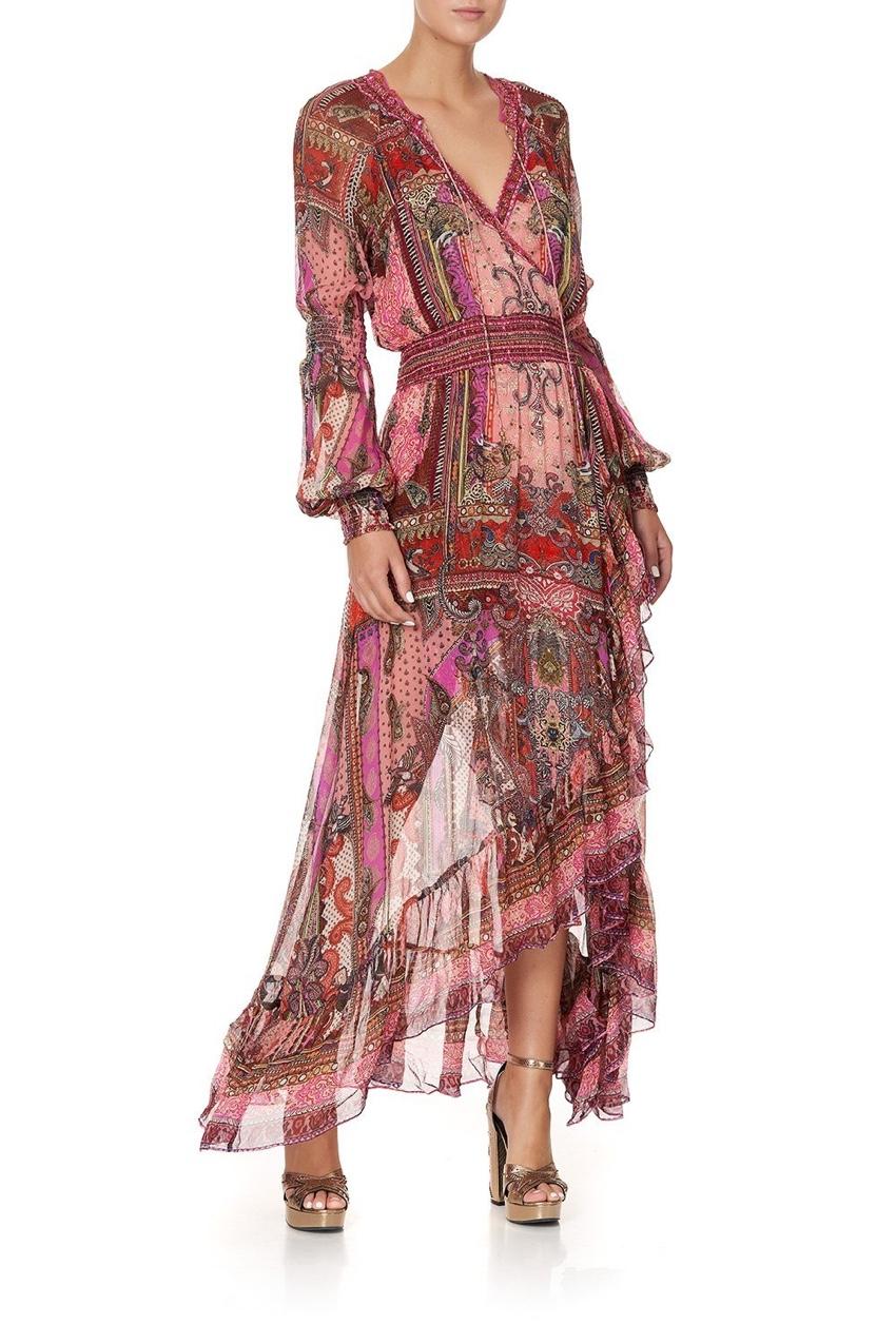 Camilla Lotus Lovers Blouson Sleeve Wrap Dress