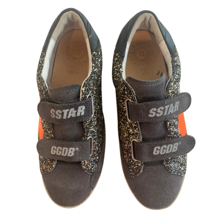 Golden Goose Deluxe Brand Kids Glitter Velcro Sneakers