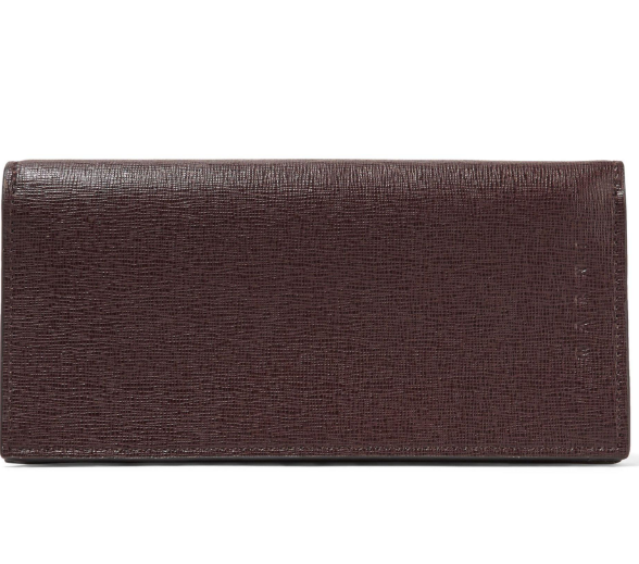 Marni Textured Leather Brown Wallet