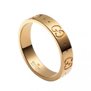 Gucci 18kt Yellow Gold Icon Narrow Band Ring