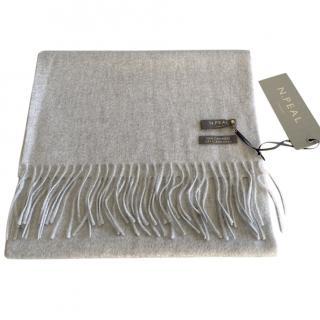 N. Peal Grey Cashmere Scarf