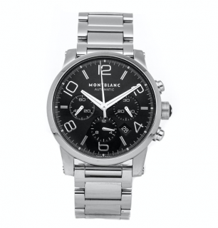 Montblanc TimeWalker Chronograph 43mm Stainless Steel Watch