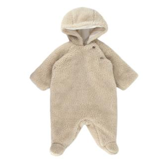 Bonpoint Ivory Fleece Baby Snowsuit