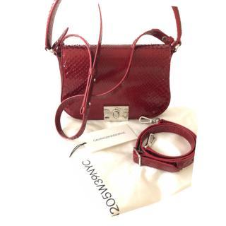 CALVIN KLEIN 205W39NYC Red Python Crossbody Bag