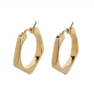Celine Formes Simples Large Pentagon Earrings