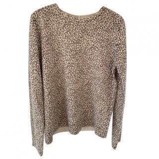 Bonpoint Leopard Print Cashmere Jumper