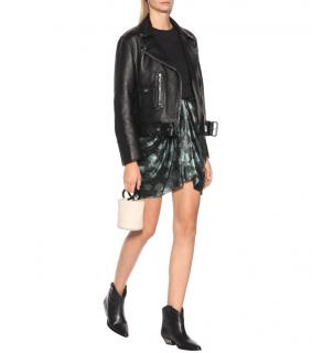 Isabel Marant Metallic Draped Silk Blend Mini Skirt