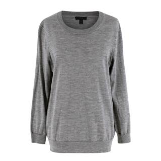 J. Crew Grey Merino Wool Knit Sweater