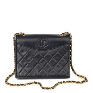 Chanel Black Vintage Single Shoulder Flap Bag