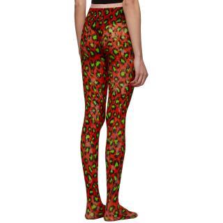 Gucci Red Leopard Print Runway Tights