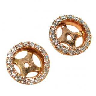 William & Son 18ct Rose Gold Diamond Halos