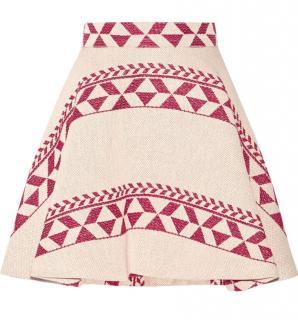 Maje Jacquard a-line mini Skirt