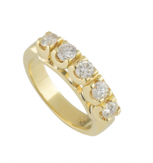 Bespoke Yellow Gold Diamond Ring