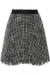 MSGM Tweed A-Line Mini Skirt