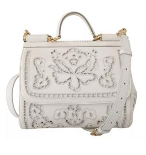Dolce & Gabbana Floral Lasercut Sicily Bag