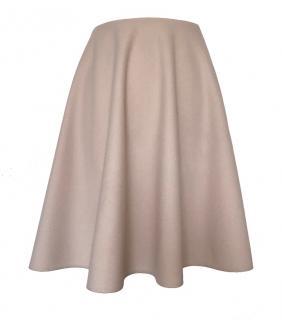 Prada Powder Pink A-Line Cashmere Skirt