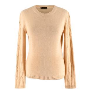 Loro Piana Yellow Silk & Cashmere Knit Sweater