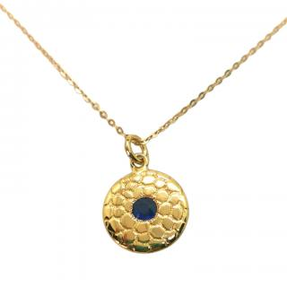 Bespoke 18ct Yellow Gold Sapphire Pendant Necklace