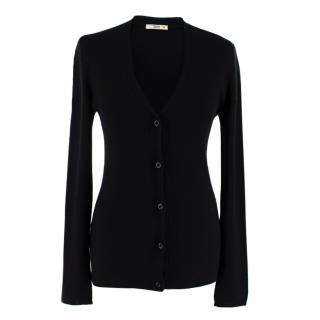 Prada Black Cashmere & Silk Knit Cardigan