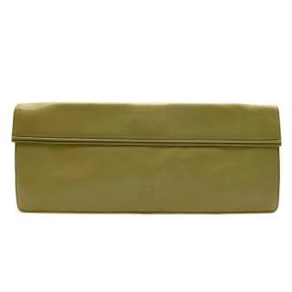 Loewe Green Leather Vintage Long Clutch