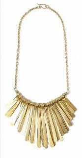 Soko Gold Tone Hammered Fringed Necklace