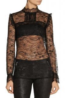 Maje black delicate lace blouse