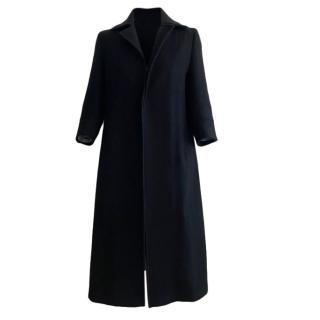 Yohji Yamamoto Navy Wool Coat