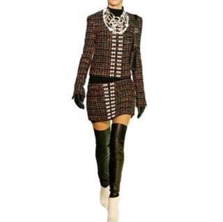 Chanel Multicoloured Embellished Tweed Skirt Suit