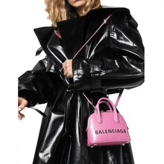 Balenciaga Pink XXS Ville Mini Leather Tote Bag