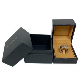 Bvlgari B.zero1 four-band ring in 18 kt white gold.