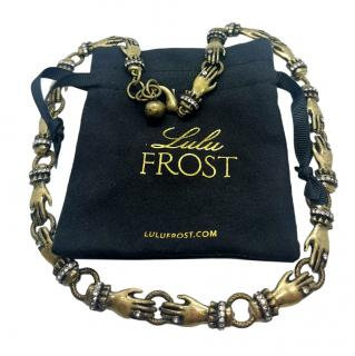 Lulu Frost crystal detail hand necklace