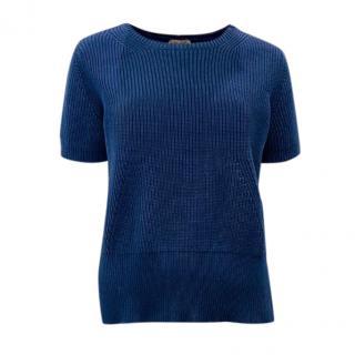 No.21 Blue Knit Top