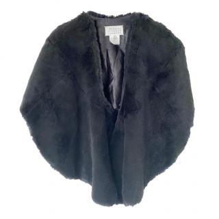 Maison Margiela Black Rabbit Fur Poncho