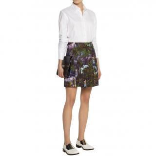Carven jungle print a-line mini skirt