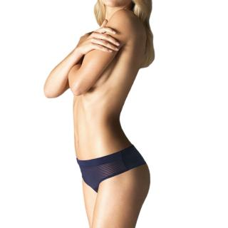 Wolford Navy Striped Louie String Thong