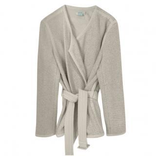 Vince Cream Linen Blend Belted jacket