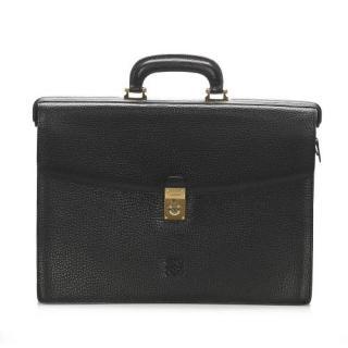 Loewe Black Grained Leather Briefcase