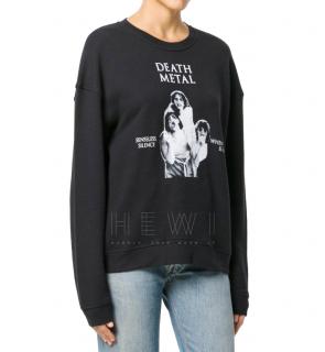 McQ by Alexander McQueen Death Metal-Print Sweatshirt