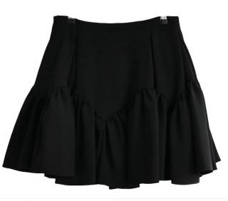 Kenzo black crepe mini skirt