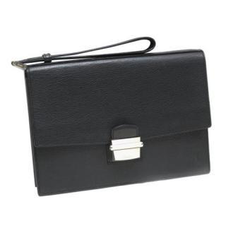 Cartier Black Grained Leather Pasha Clutch/Wrist Bag