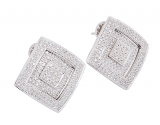 Versace Diamond Triple Layer Gold Earrings