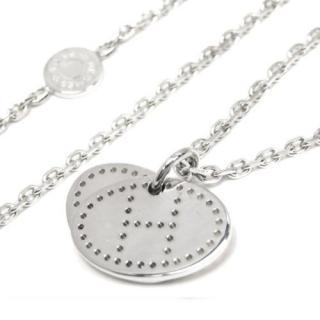 Hermes Evelyne Silver Eclipse Necklace