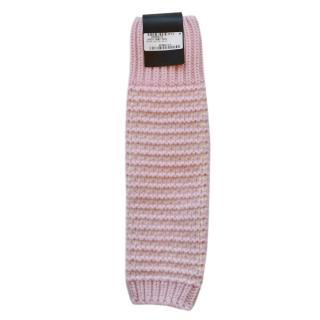 Gucci Pink & White Wool Blend Knit Leg Warmers